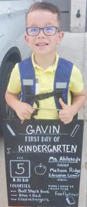 GAVIN FIRST DAY OF SCHOOL